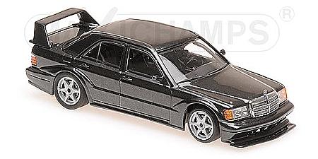 1990 Modellauto schwarz Fertigmodell Mercedes 190E 2.5-16 Evolution II Solido 1:18